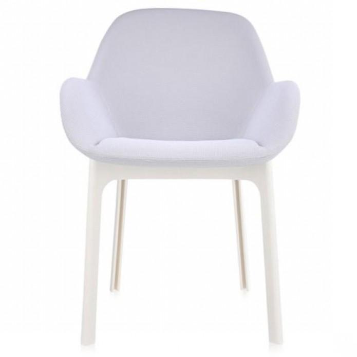 fauteuil clap pied blanc assise grise nid d abeille