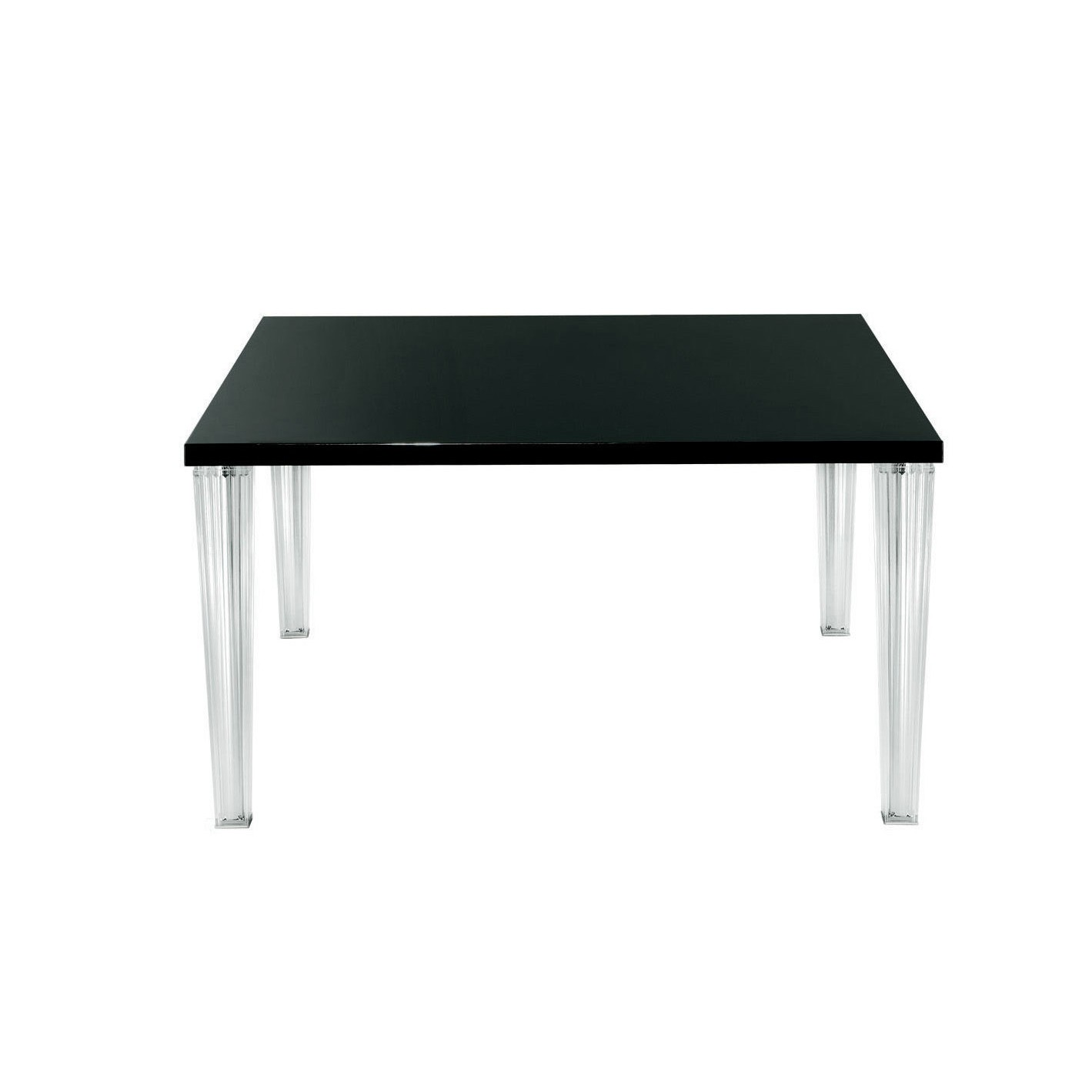 toptop table carre noir avec plateau verre