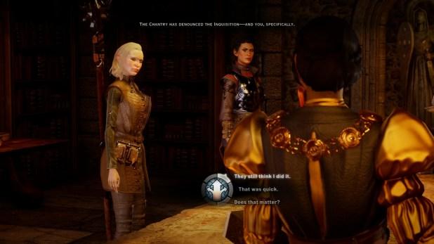 Dialogue UI - Dragon Age - Inquisition
