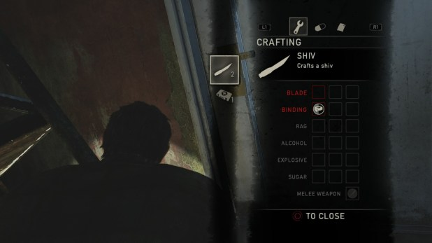 Crafting UI - The Last of Us