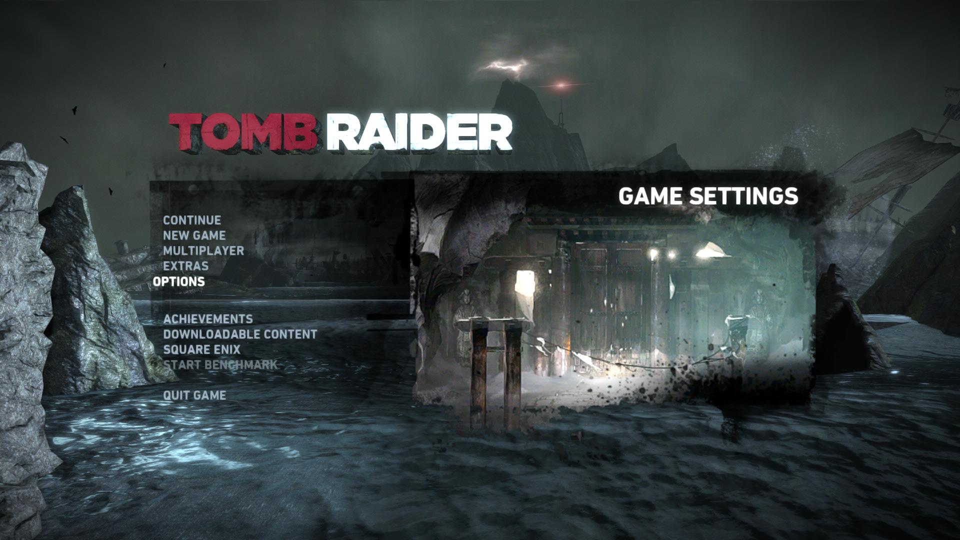 Main Menu - Tomb Raider