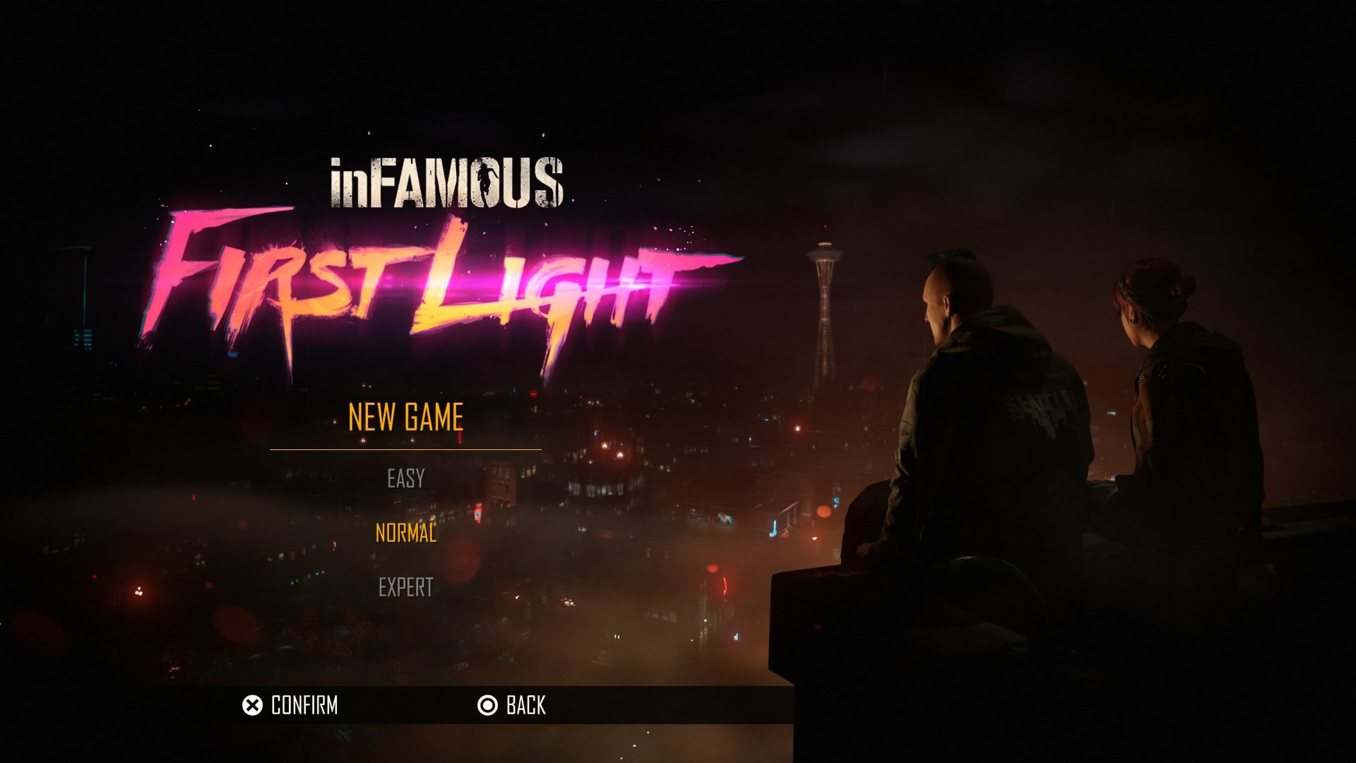 Main Menu - inFAMOUS - First Light