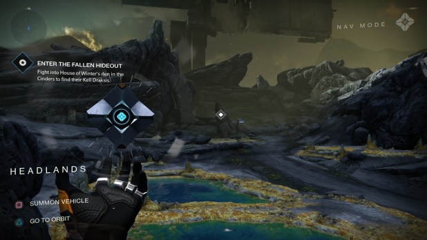Objective UI (Diegetic/Partially Non-Diegetic HUD) - Destiny