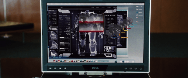 Control Panel UI - Iron Man 1