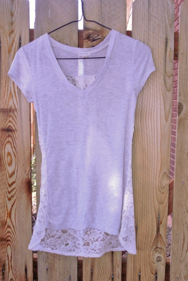 lace shirt front copy