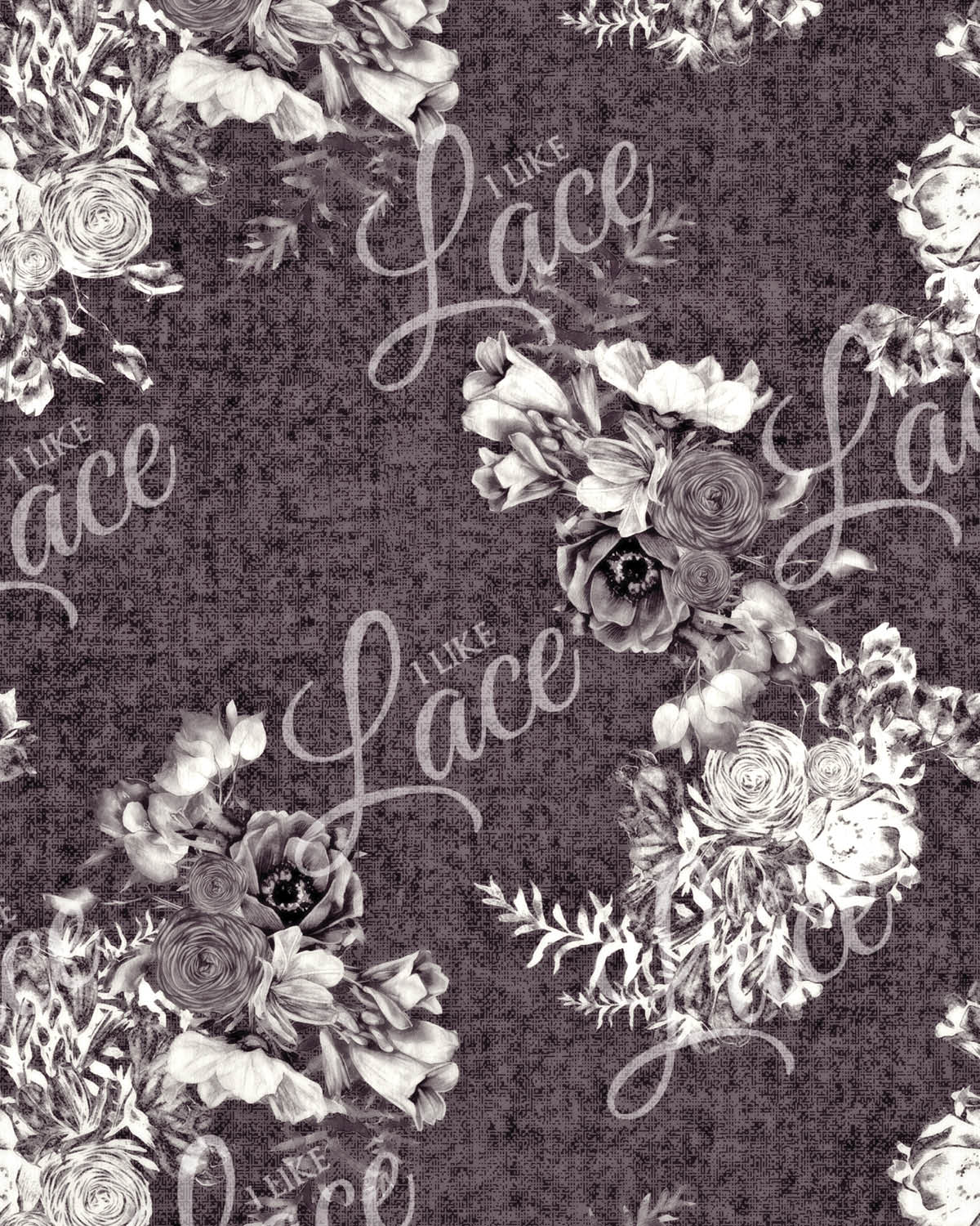 anna amethyst floral french terry fabric