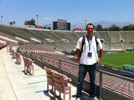 Rose Bowl Stadium in Pasadena, California