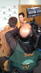 Muguruza during a press conference