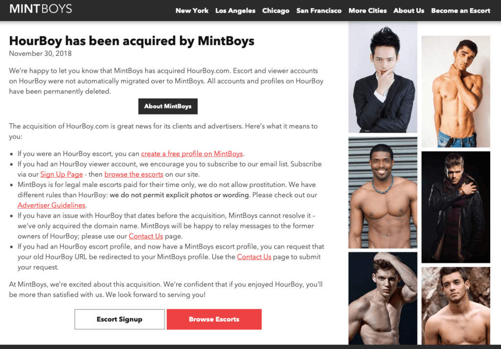 Mintboys bought hourboy screenshot