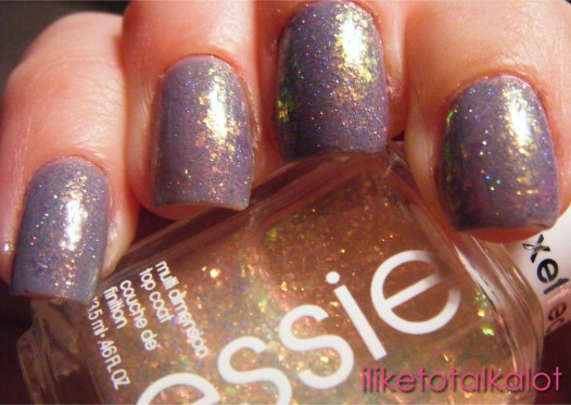 OPI I dont give a rotterdam with essie shine of the times and holo  sparkles 1