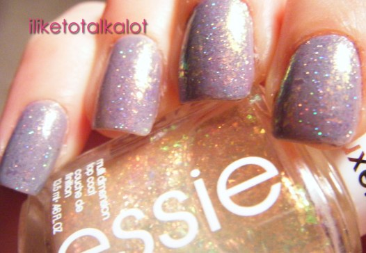 OPI I dont give a rotterdam with essie shine of the times and holo  sparkles 2