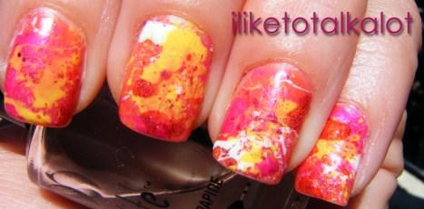 Endless Summer Splatter Manicure 5 iliketotalkalot