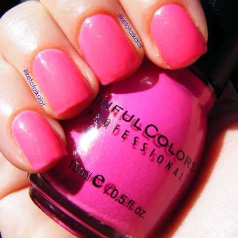 iliketotalkalot cream pink sinful colors 1