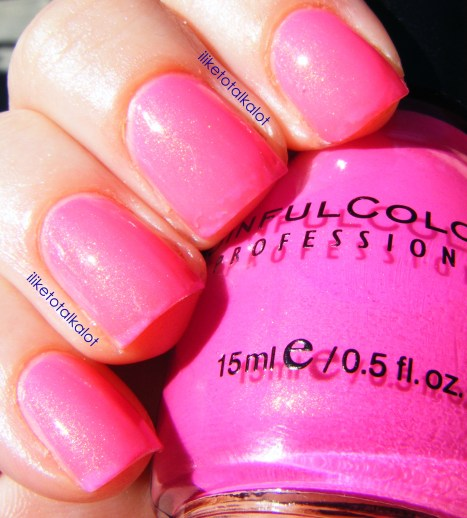iliketotalkalot cream pink sinful colors 4