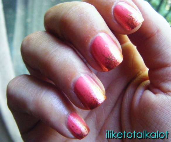 coral manicure iliketotalkalot 2