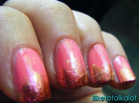 coral manicure iliketotalkalot 3