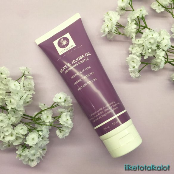 oz naturals olive and jojoba oil nourishing souffle review by iliketotalkblog