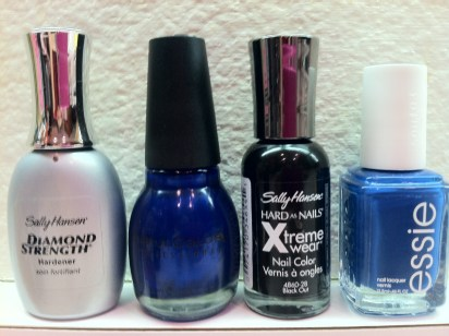 sally hansen nail hardener sinful colors midnight blue sally hansen black out essie mezmerised