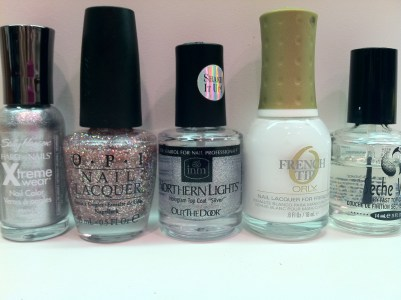 Sally hansen Celeb City OPI Teenage Dream INM Northern Lights Silver Holo Orly Seche Vite Top CoaT