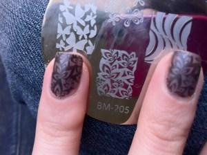 nail art stamping results