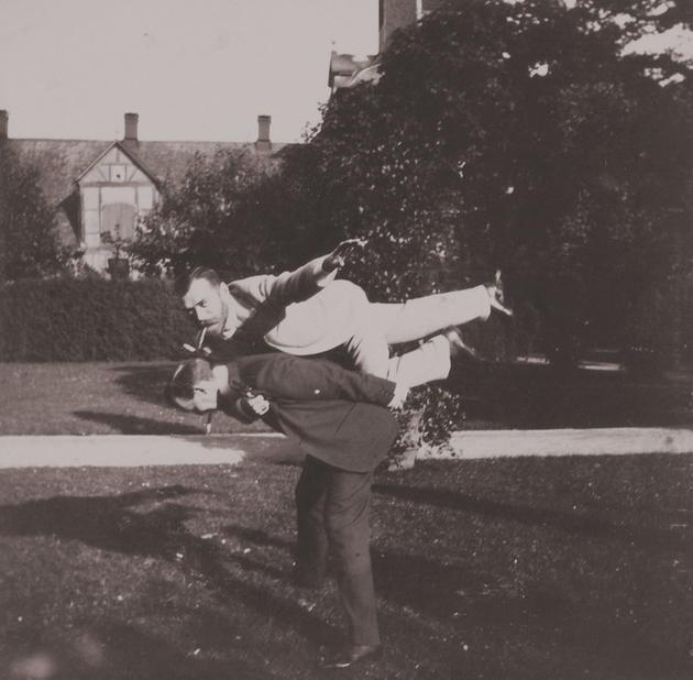 Tsar Nicholas and his friend 1899