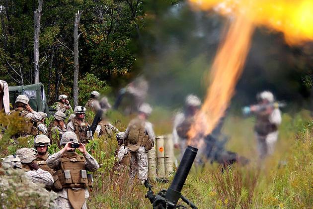 Live Fire mortars