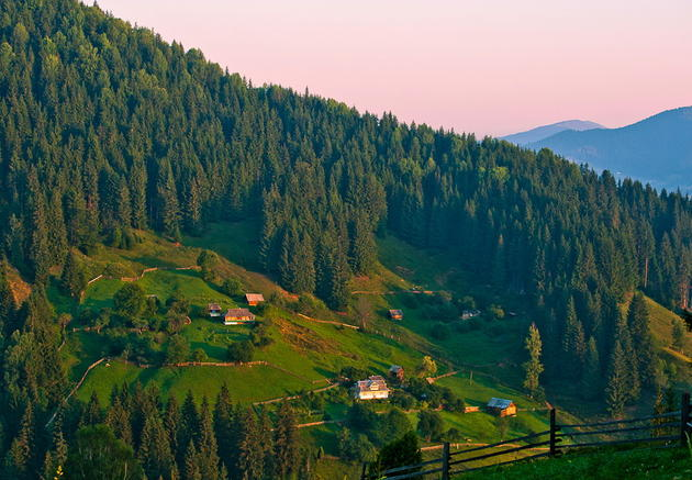 Carpathian Mountains farm