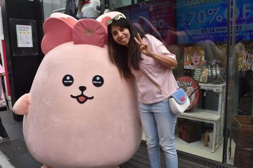 bunny mascot harajuku tokyo japan