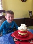 """Jace loved all that """"cream!"""""""