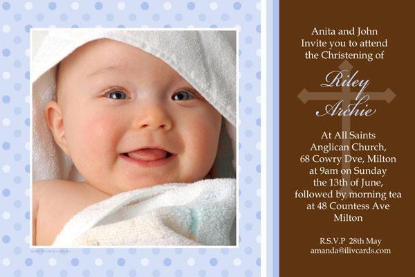 Christening Invitations Twin Boys