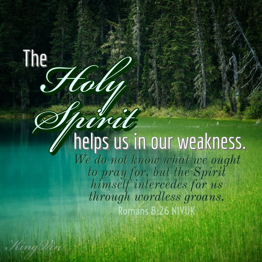 the holy spirit helps in our weakness - i live for jesus !