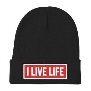 I Live Life Knit Beanie