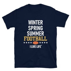 Winter Spring Summer Football Tshirt
