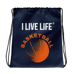 Basketball Classic Drawstring Bag on ilivelifeill.com