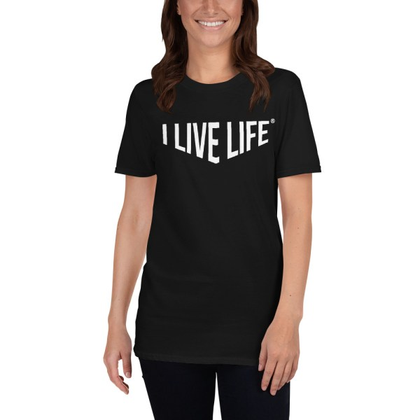 I Live Life Barbell Gym T shirt