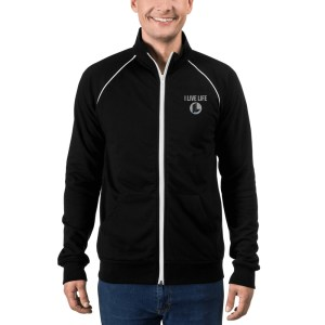 The I Live Life Embroidered Zip Up Fleece on ilivelifeill.com