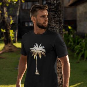 I Live Life Palm Tree Silhouette