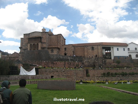 Corikancha in central Cusco, the most important temple in the Inca empire