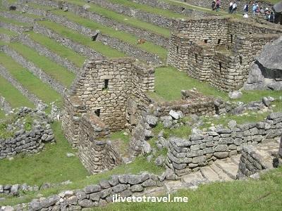 Terraces in Machu Picchu, Peru