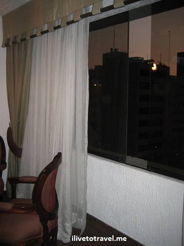 Low wall on the window of my hotel room