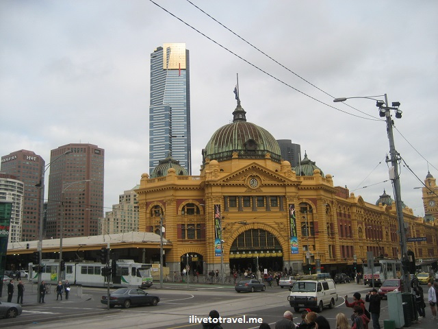 Melbourne, Flinders, train station, Australia, photo, travel