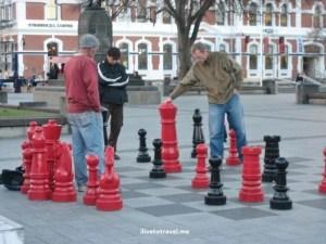 Christchurch square plaza chess New Zealand