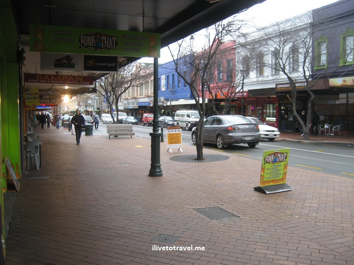 Main street in Dunedin, New Zealand, architecture, Canon EOS Rebel