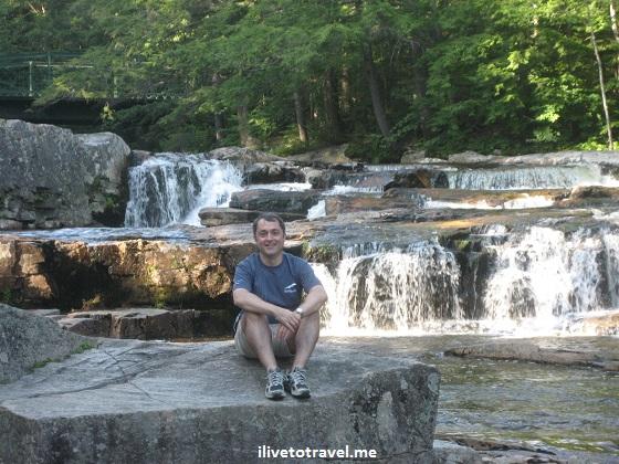 New Hampshire waterfall - nature outdoors