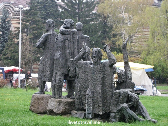 Statues in a park in Sofia, Bulgaria