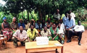 Village savings and loan members posing near Mwanza, Tanzania