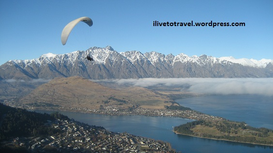 Overlooking Queenstown and The Remarkables in glorious New Zealand