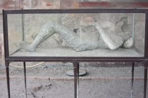 A victim of Vesuvius in Pompeii