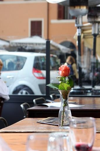 Campo de Fiore, Rome, Italy - a lonely flower