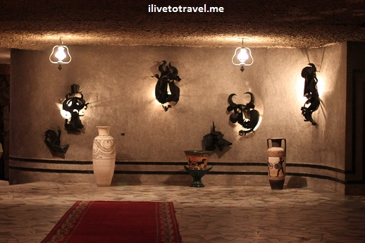 Entrance to wine tasting area at Milestii Mici winery in Moldova